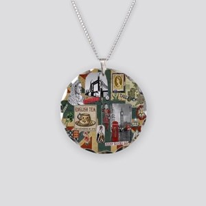 Anglophiles Delight Necklace Circle Charm