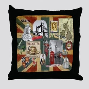 Anglophiles Delight Throw Pillow