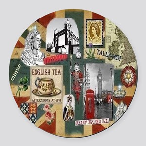 Anglophiles Delight Round Car Magnet