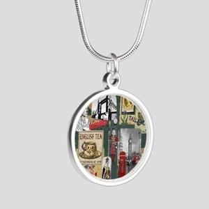 Anglophiles Delight Silver Round Necklace