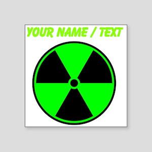 Custom Green Radioactive Symbol Sticker