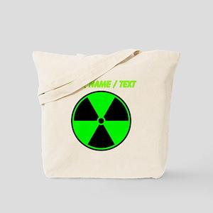 Custom Green Radioactive Symbol Tote Bag