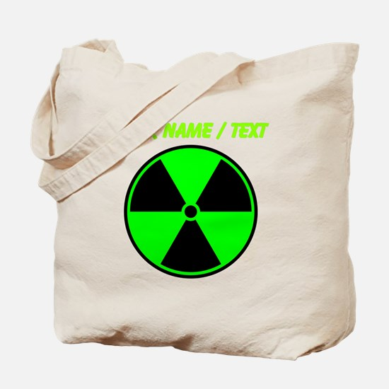 Custom Green Radioactive Symbol Tote Bag