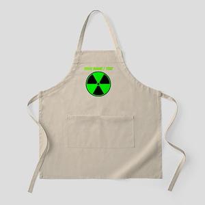 Custom Green Radioactive Symbol Apron