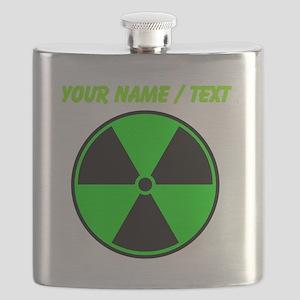 Custom Green Radioactive Symbol Flask