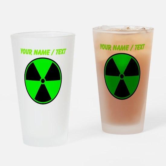 Custom Green Radioactive Symbol Drinking Glass