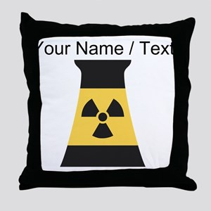 Custom Nuclear Smokestack Throw Pillow