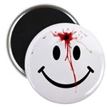 White Smiley Face Magnet