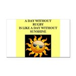 rugby Rectangle Car Magnet