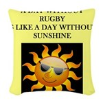 rugby Woven Throw Pillow