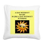 rugby Square Canvas Pillow