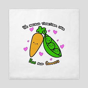 Peas and Carrots Queen Duvet