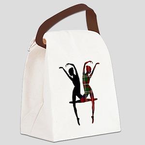 Miss Tartan Dancer Canvas Lunch Bag