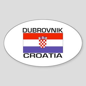Dubrovnik, Croatia Oval Sticker