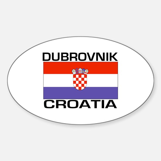 Dubrovnik, Croatia Oval Decal