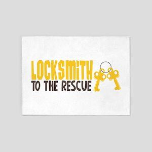 Locksmith To The Rescue 5'x7'Area Rug