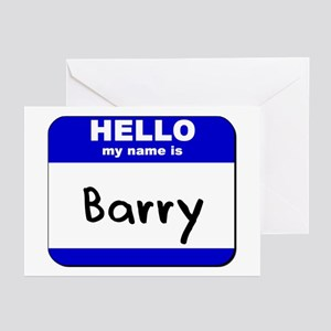 Barry manilow greeting cards cafepress hello my name is barry greeting cards package of bookmarktalkfo Image collections