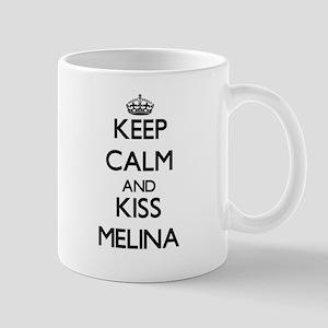 Keep Calm and kiss Melina Mugs
