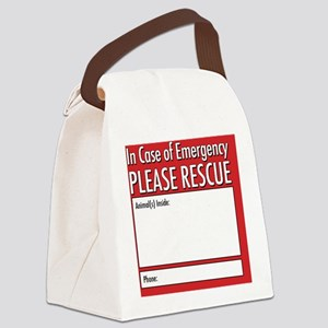 Emergency Animal Rescue Canvas Lunch Bag