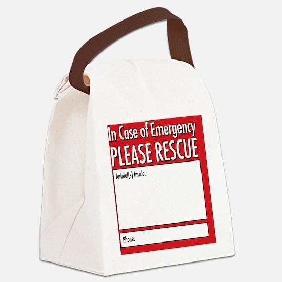 Emergency Animal Rescue Canvas Lunch Bag