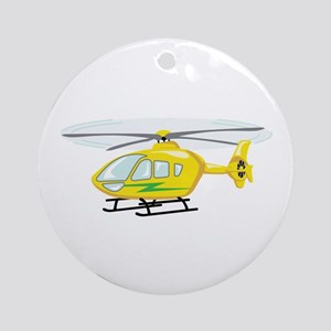 Helicopter Ornament (Round)