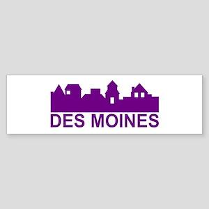 Des Moines Iowa Bumper Sticker