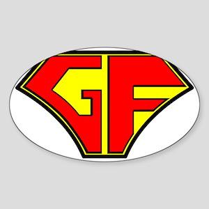 Super Gluten Free Sticker (Oval)