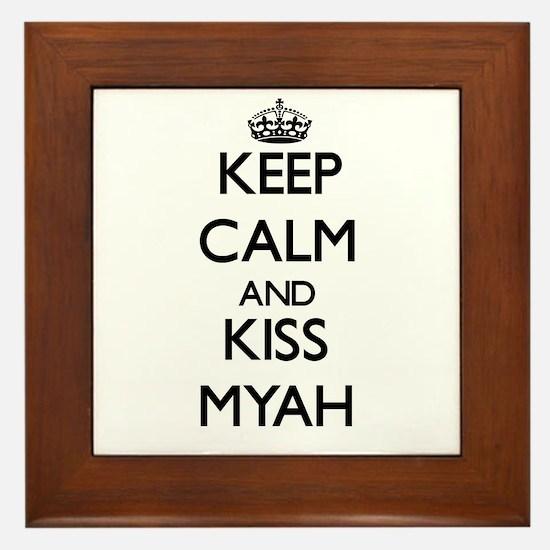 Keep Calm and kiss Myah Framed Tile