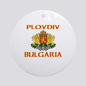 Plovdiv, Bulgaria Ornament (Round)