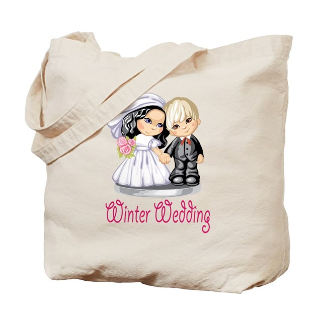 wedding cake bag winter wedding cake dolls tote bag by americanwedding1 21775
