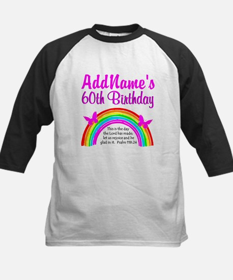 BLESSED 60TH Kids Baseball Jersey