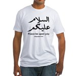 Peace be upon you Arabic Fitted T-Shirt