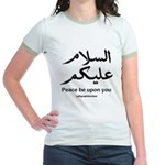 Peace be upon you Arabic Jr. Ringer T-Shirt