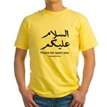 Peace be upon you Arabic Yellow T-Shirt