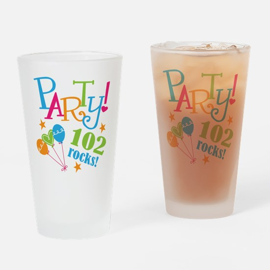 102nd Birthday Party Drinking Glass