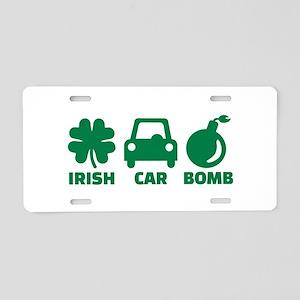 Irish car bomb Aluminum License Plate