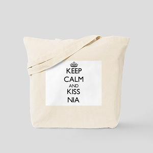 Keep Calm and kiss Nia Tote Bag