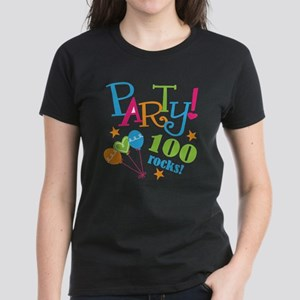 100th Birthday Party Women's Dark T-Shirt