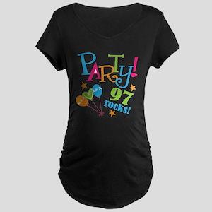 97th Birthday Party Maternity Dark T-Shirt