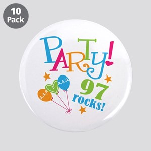 """97th Birthday Party 3.5"""" Button (10 pack)"""