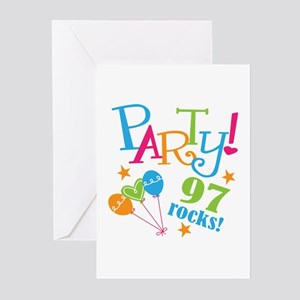 97th Birthday Party Greeting Cards (Pk of 20)
