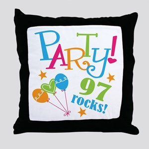 97th Birthday Party Throw Pillow