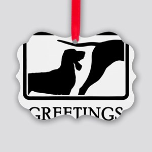 Black--Tan-Coonhound-07A Picture Ornament