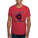 Valentine Fragile Heart Dark T-Shirt