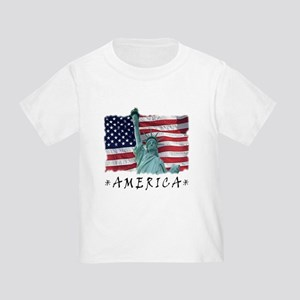 Liberty & Flag Toddler T-Shirt