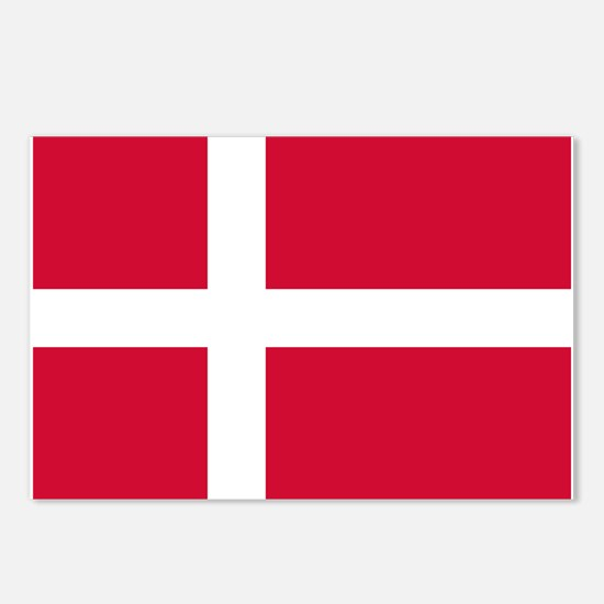 Denmark Flag Postcards (Package of 8)