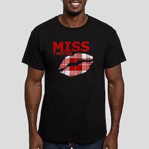 Miss Tartan Kiss Men's Fitted T-Shirt (dark)