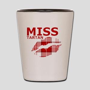Miss Tartan Kiss Shot Glass