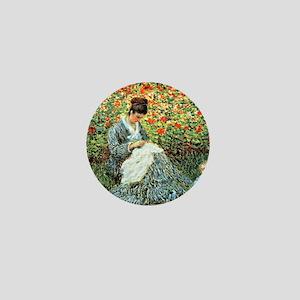 Camille Monet and Child Mini Button