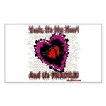 Valentine My Heart is Fragile Sticker (Rectangle 1